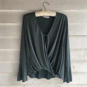 Lush | Long Sleeve Twist/Wrap Blouse